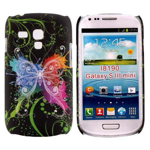 Valentine (Centrerad Regnbågsfjäril – Svart) Samsung Galaxy S3 Mini Skal