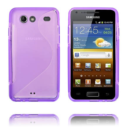 S-Line Transparent (Lila) Samsung Galaxy S Advance Skal