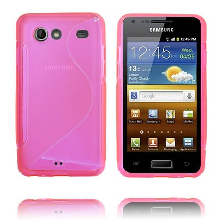 S-Line Transparent (Het Rosa) Samsung Galaxy S Advance Skal