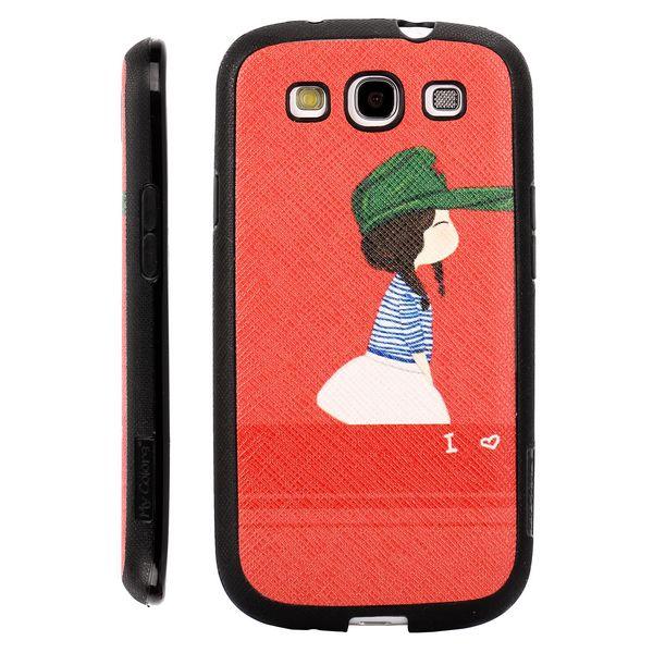 Happy Cartoon (Vacker Flicka) Samsung Galaxy S3 Silikonskal