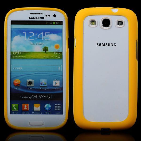 Clear Back (Gul) Samsung Galaxy S3 Silikonskal