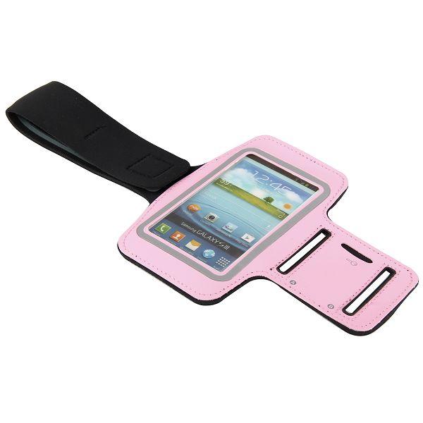 Fitness – Sportarmband för Smartphones (Ljusrosa)