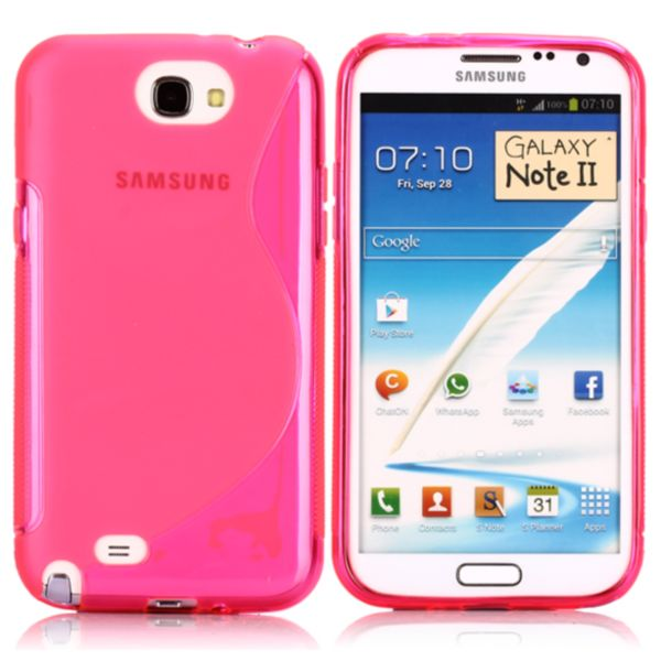 S-Line Transparent (Rosa) Samsung Galaxy Note 2 Skal