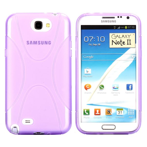 eXplorer Transparent (Lila) Samsung Galaxy Note 2 Skal