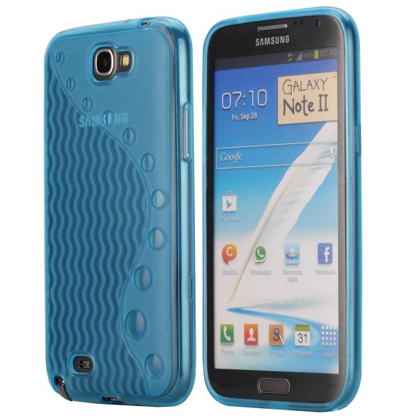 UniLine (Ljusblå) Samsung Galaxy Note 2 Skal