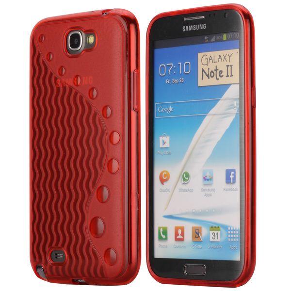 UniLine (Röd) Samsung Galaxy Note 2 Skal