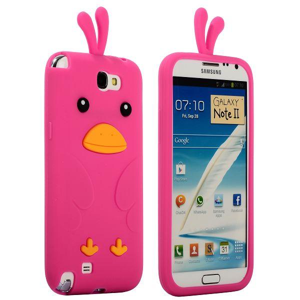 Happy Bird (Het Rosa) Samsung Galaxy Note 2 Skal