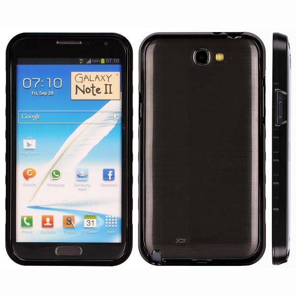 AluLite (Svart) Samsung Galaxy Note 2 Aluminium-Bumper