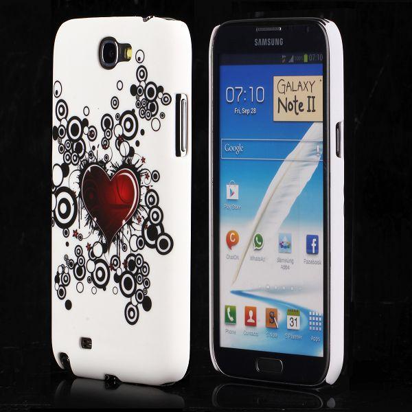 Valentine (Rött Hjärta – Svarta Cirklar) Samsung Galaxy Note 2 Skal