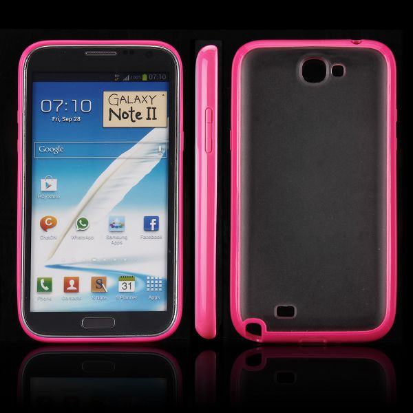 Frosty Ice Back (Het Rosa) Samsung Galaxy Note 2 Skal