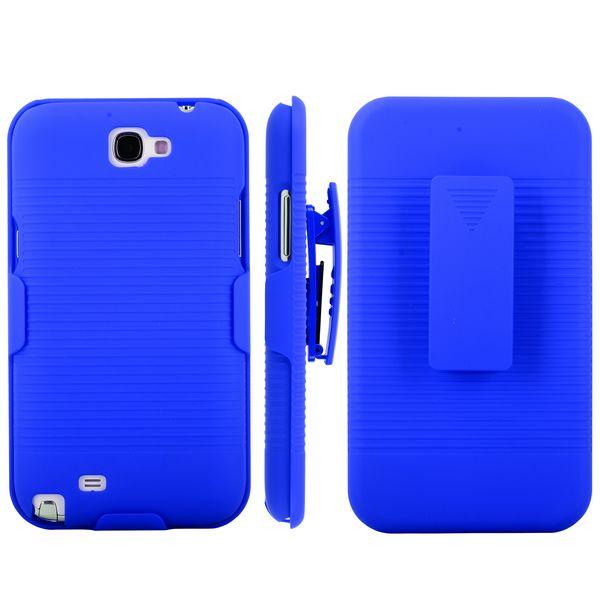 BeltClip KickStand (Blå) Samsung Galaxy Note 2 Skal