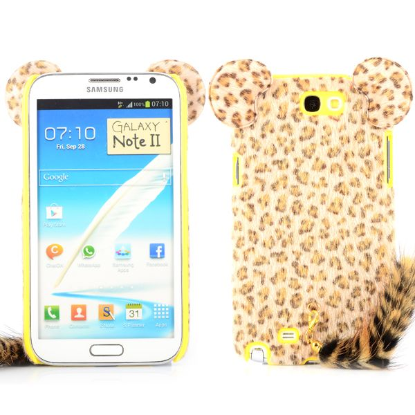 Happy Leopard (Gul) Samsung Galaxy Note 2 Skal