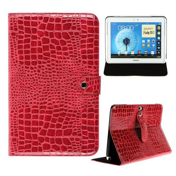 Croco Samsung Galaxy Note 10.1 Läderfodral (Röd)
