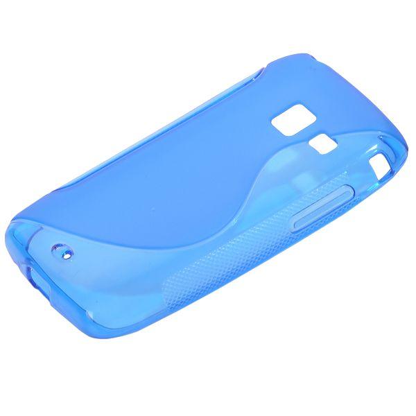 S-Line Transparent (Blå) Samsung Galaxy Y Duos Skal