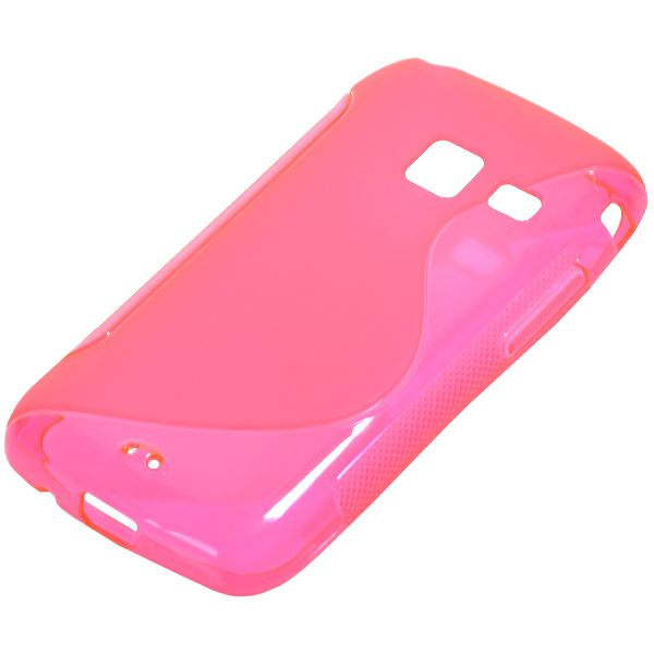 S-Line Transparent (Rosa) Samsung Galaxy Y Duos Skal