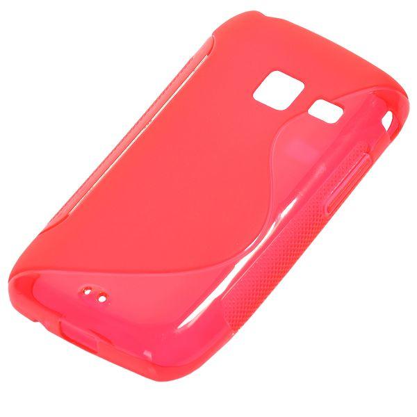 S-Line Transparent (Röd) Samsung Galaxy Y Duos Skal