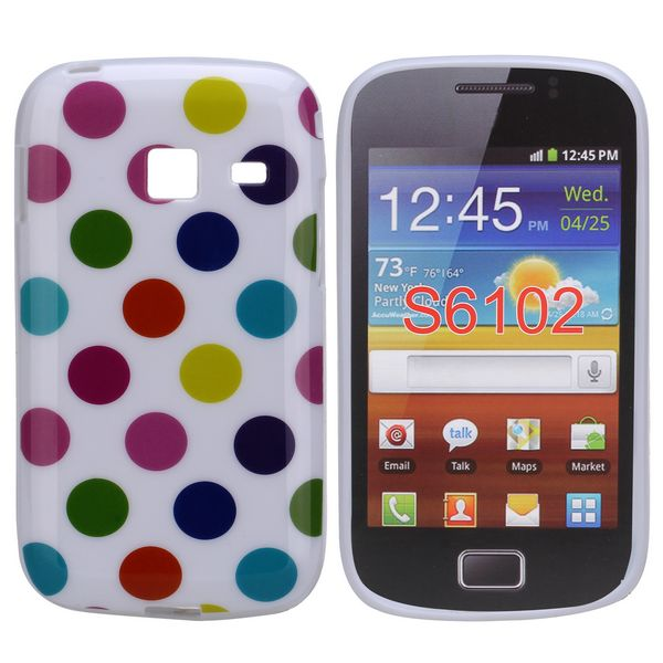 Dots (Vit Colorfull) Samsung Galaxy Y Duos Skal