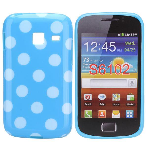 Dots (Blå/Vit) Samsung Galaxy Y Duos Skal