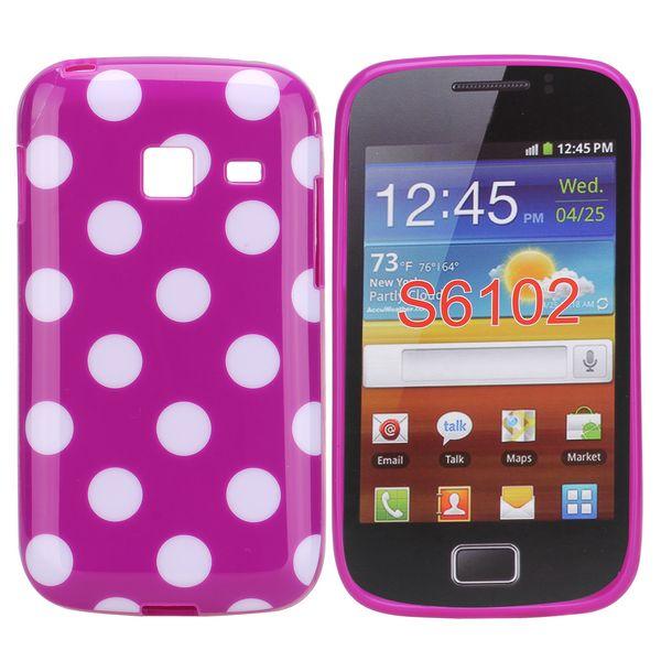 Dots (Lila/Vit) Samsung Galaxy Y Duos Skal