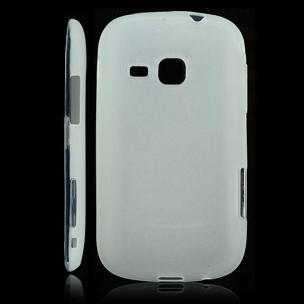 Mjukskal Matt (Vit) Samsung Galaxy Mini 2 Silikonskal