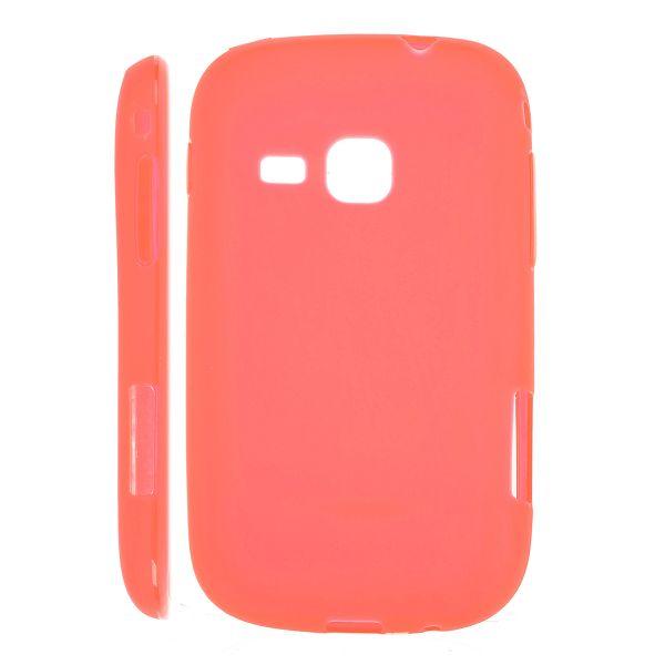 Mjukskal Matt (Röd) Samsung Galaxy Mini 2 Silikonskal