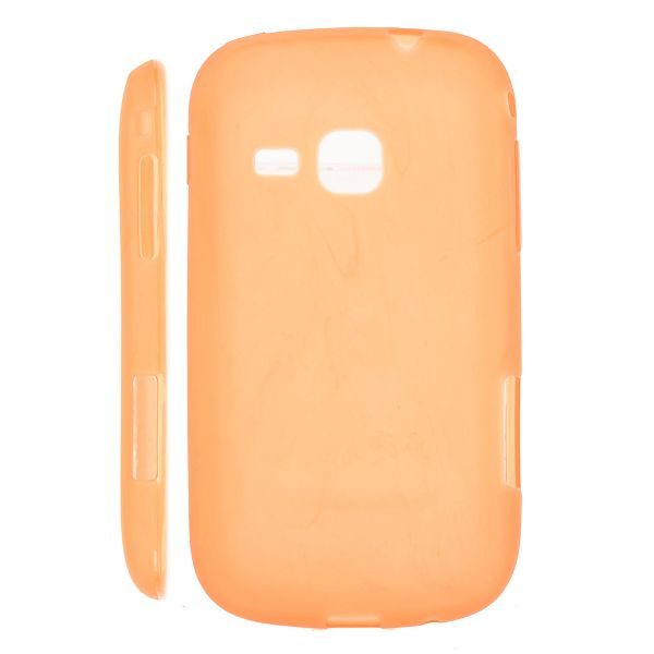 Mjukskal Matt (Orange) Samsung Galaxy Mini 2 Silikonskal