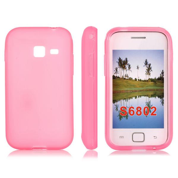 Mjukskal (Rosa) Samsung Galaxy Ace Duos Skal