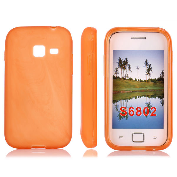 Mjukskal (Orange) Samsung Galaxy Ace Duos Skal