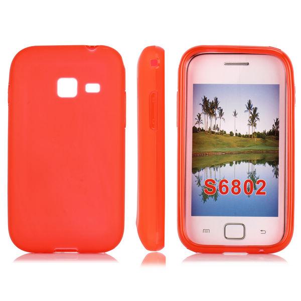 Mjukskal (Röd) Samsung Galaxy Ace Duos Skal