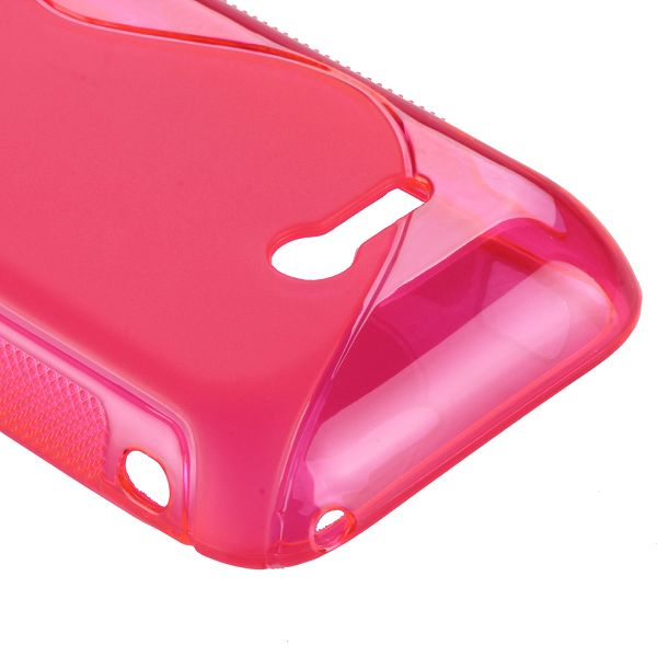 S-Line Transparent (Het Rosa) Sony Xperia Tipo Skal