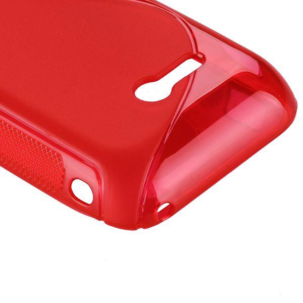 S-Line Transparent (Röd) Sony Xperia Tipo Skal