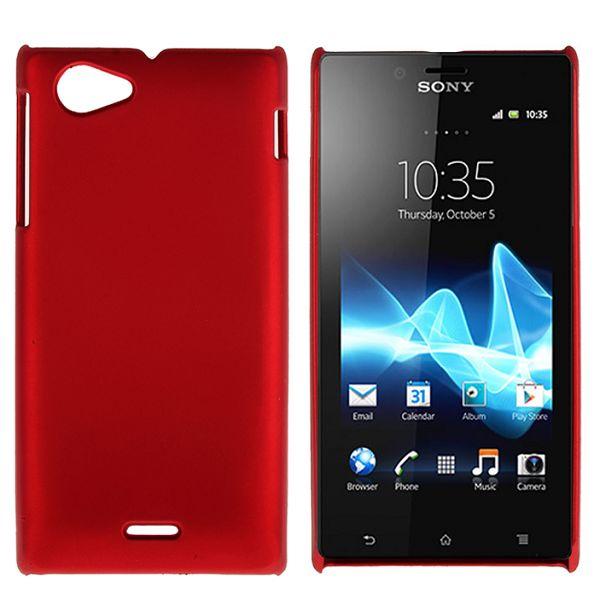 Hårdskal (Röd) Sony Xperia J Skal