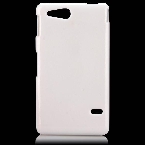 Glitter Shell (Vit) Sony Xperia Go Skal