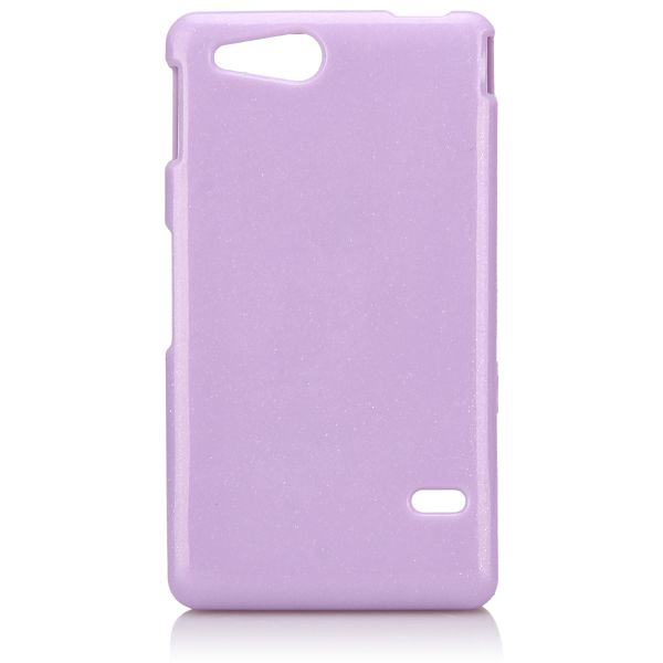 Glitter Shell (Lila) Sony Xperia Go Skal