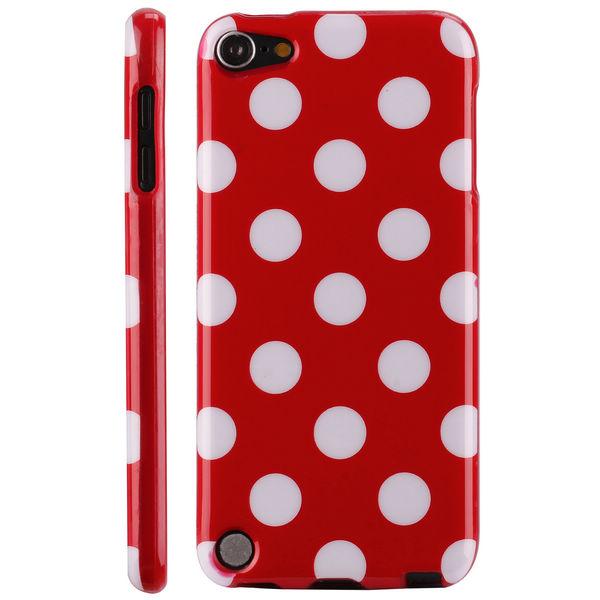 Polkaprickar (Röd) iPod Touch 5 Skal