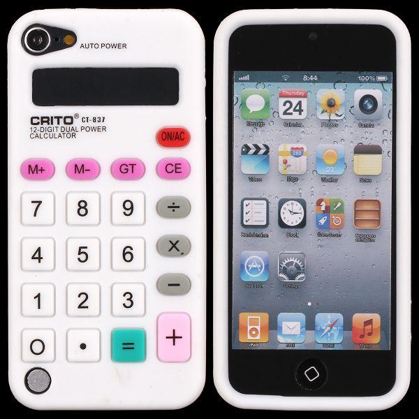 Calculator (Vit) iPod Touch 5 Silikonskal