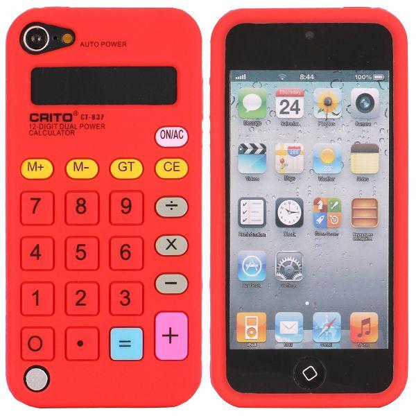Calculator (Röd) iPod Touch 5 Silikonskal
