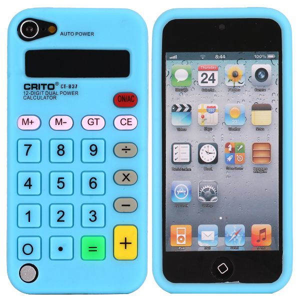 Calculator (Ljusblå) iPod Touch 5 Silikonskal