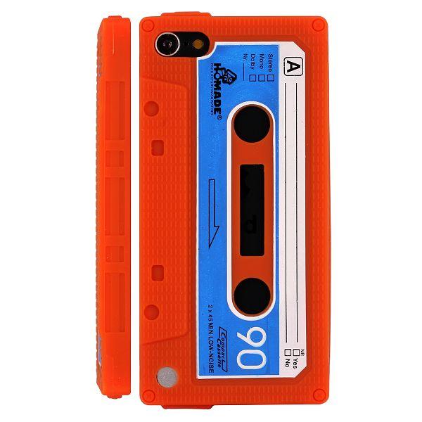 Retro Cassette Tape (Orange) iPod Touch 5 Silikonskal