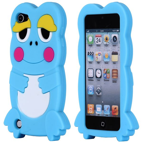 Froggy (Ljusblå) iPod Touch 5 Silikonskal