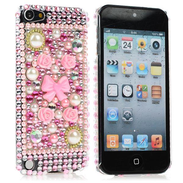 KrystalCase (Rosa Diamanter 1) iPod Touch 5 Blingskal