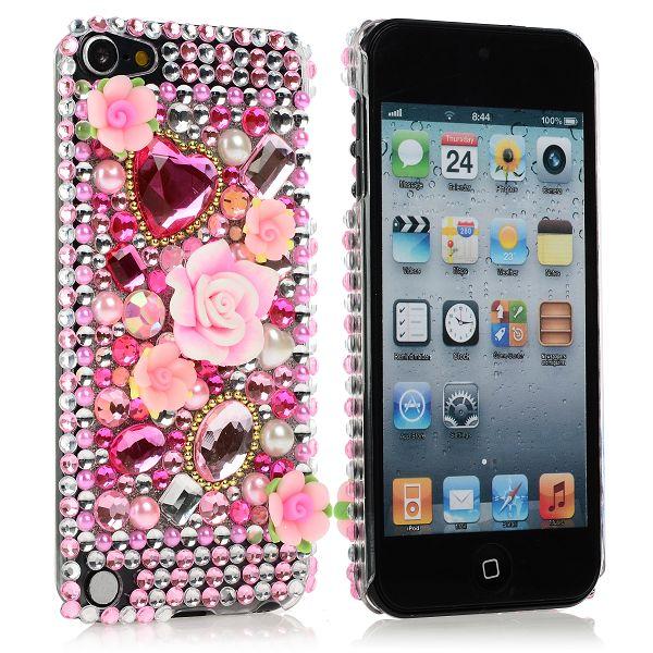 KrystalCase (Rosa Diamanter 4) iPod Touch 5 Blingskal