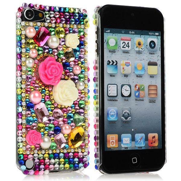 KrystalCase (Rosa Diamanter 6) iPod Touch 5 Blingskal