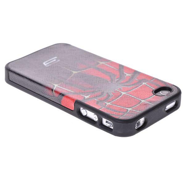 iStars – Läderklätt (Spiderman) iPhone 4/4S Silikonskal