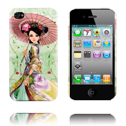 Japan Fashion (Paraply/Flicka) iPhone 4/4S Skal