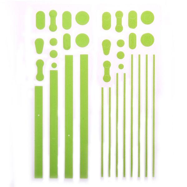Custom Edge Klistermärke för iPhone 4S/4 Metallram (Grön)