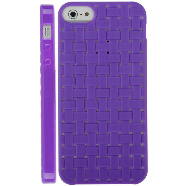 Cross Stitch (Lila) iPhone 5 & 5S Silikonskal