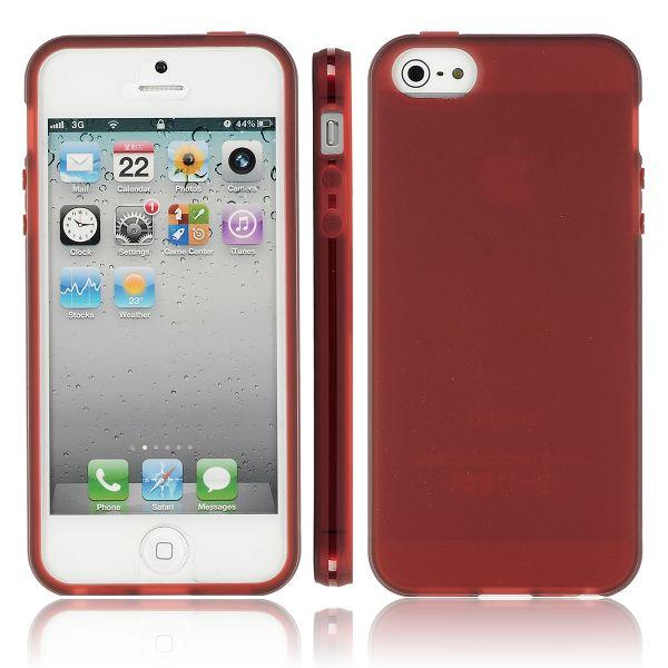 Frosty Transparent Ver. II (Brun) iPhone 5 Silikonskal