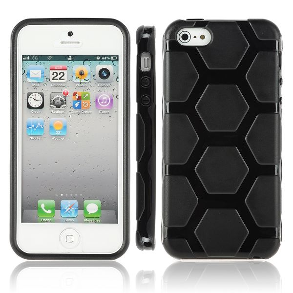 Hexagons (Svart) iPhone 5 Silikonskal