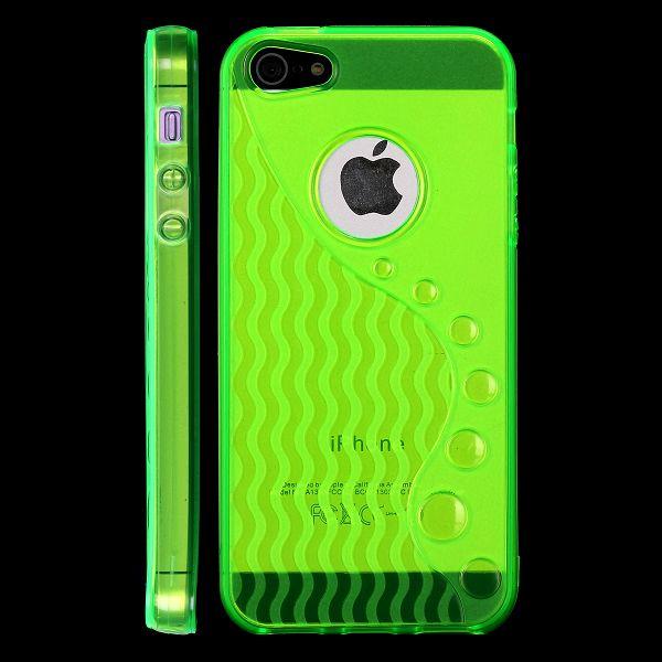 Wave S-Line (Grön) iPhone 5 Skal